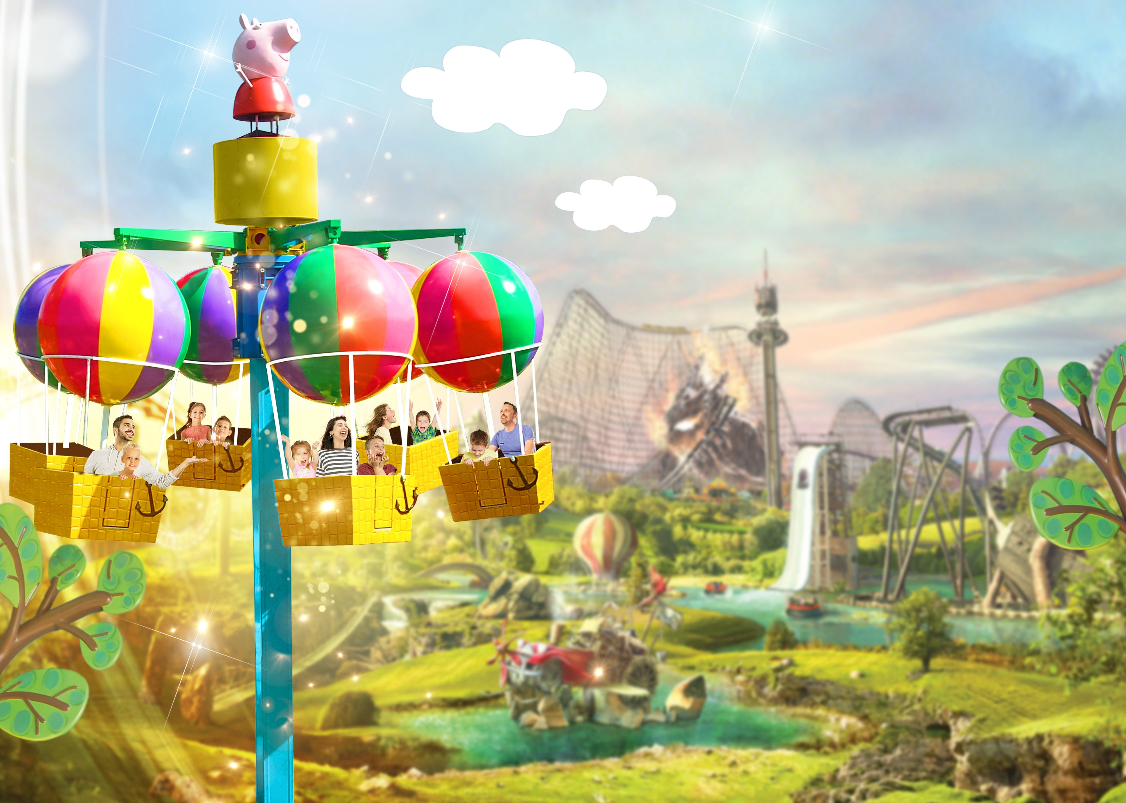 Heideparkresort Peppapig Balloon Ride 2020
